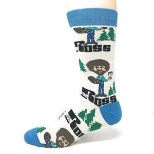 Always Happy Bob Ross Socks