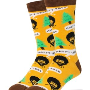 Happy Tree Bob Ross Socks
