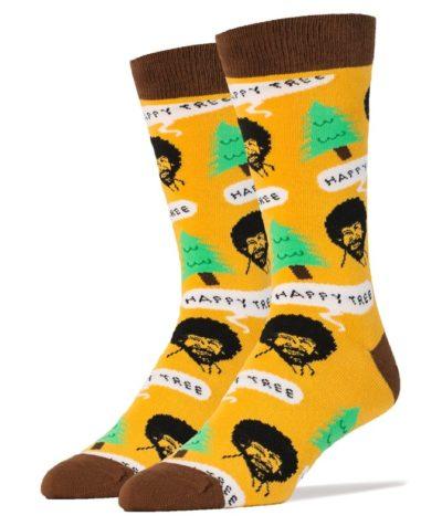Happy Tree Bob Ross Socks