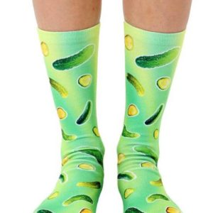 Trippy Pickle Crew Socks