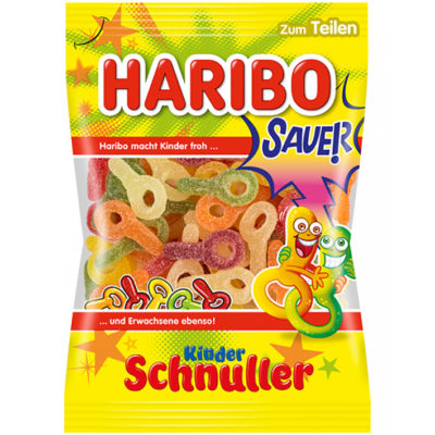 German Haribo Sauer Kinder Schnuller Sour Gummy Pacifiers