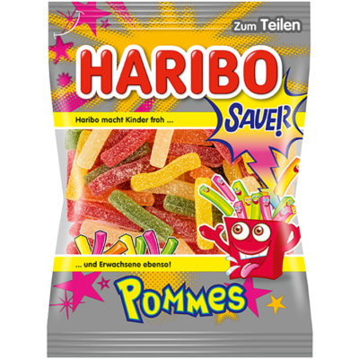 German Haribo Sauer Pommes Sour Gummy French Fries