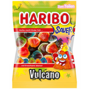 German Haribo Sauer Vulcano Sour Volcanos