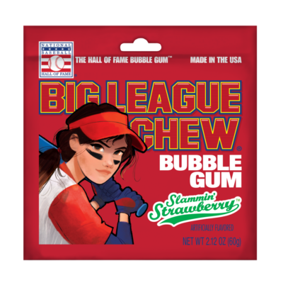 Big League Chew Slammin' Strawberry