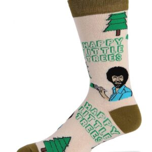 Bob Ross Always Happy Trees Socks