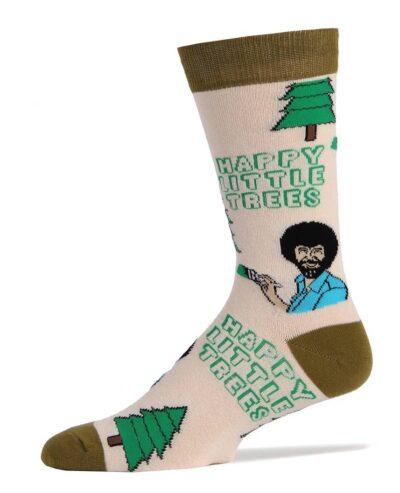 Bob Ross Always Happy Trees Socks