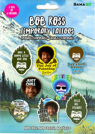 bob ross temporary tattoos