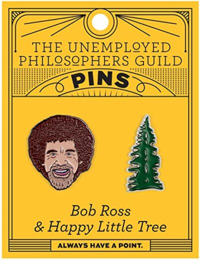 Bob Ross Enamel Pin Set